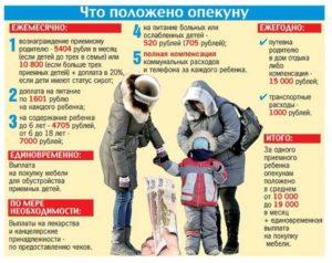 Зарплата опекуна над ребенком в московской области