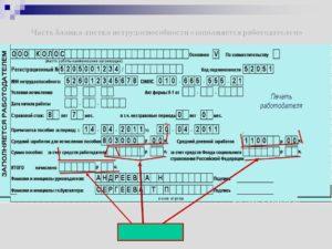 Как заполнить больничный лист в 2020 году работодателю при пилотном проекте образец