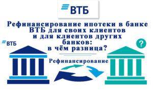 Банк втб рефинансирование ипотеки