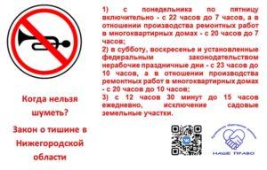 Закон о нарушение тишины и покоя граждан 2020 года