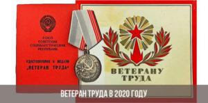 Льготы ветеранам труда в 2020 году в москве с какого возраста
