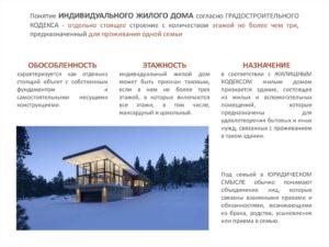 Индивидуальный жилой дом определение градостроительный