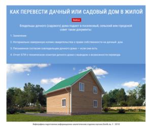 Как перевести жилое строение в жилой дом в снт
