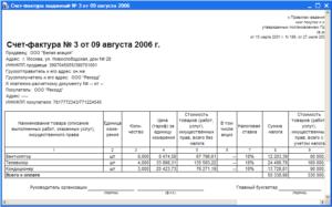 Разные даты акта и счет-фактуры