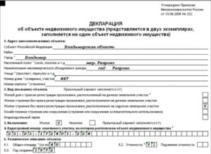 2020 год пример заполнения декларации на дом снт для государственной регистрации права