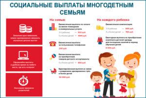 Льготы многодетным в москве