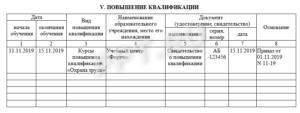 Дополнение к личной карточке работника форма т-2 отпуск скачать 2020