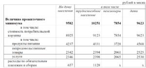 Расчет прожиточного минимума на семью 2020