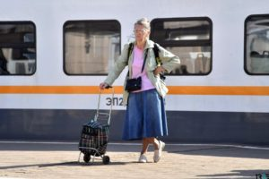 Льготная оплата проезда на электричке пенсионеров