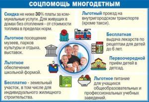 Льготы многодетным семьям в ульяновской области