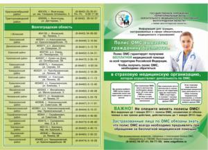 Перечень бесплатных медицинских услуг по полису омс 2020