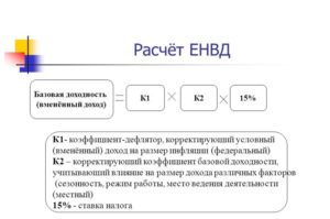Расчет налога енвд онлайн калькулятор в 2020 году