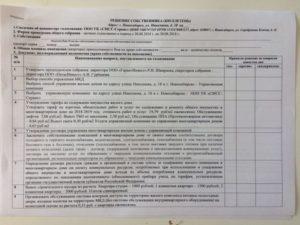 Бюллетень голосования членов тсж в очно-заочной форме