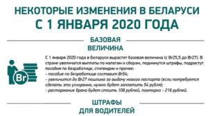 Новые законы рб 2020
