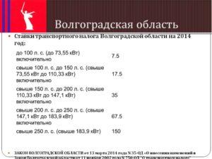 Закон волгоградской области о транспортном налоге 2020 год