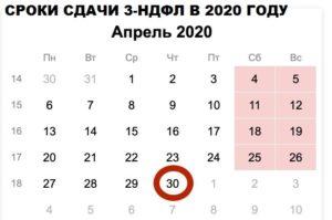 3 ндфл сроки сдачи в 2020 году для нерезидентов