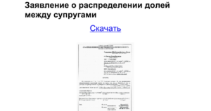 Заявление о распределении вычета между супругами образец 2020 бланк