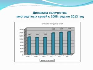 Многодетные семьи статистика в россии