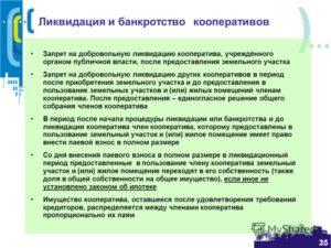 Ликвидация жилищного кооператива пошаговая инструкция