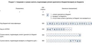 Код бюджетной классификации в декларации 3-ндфл за 2020 год