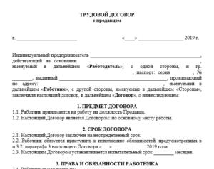 Договор ип с продавцом 2020